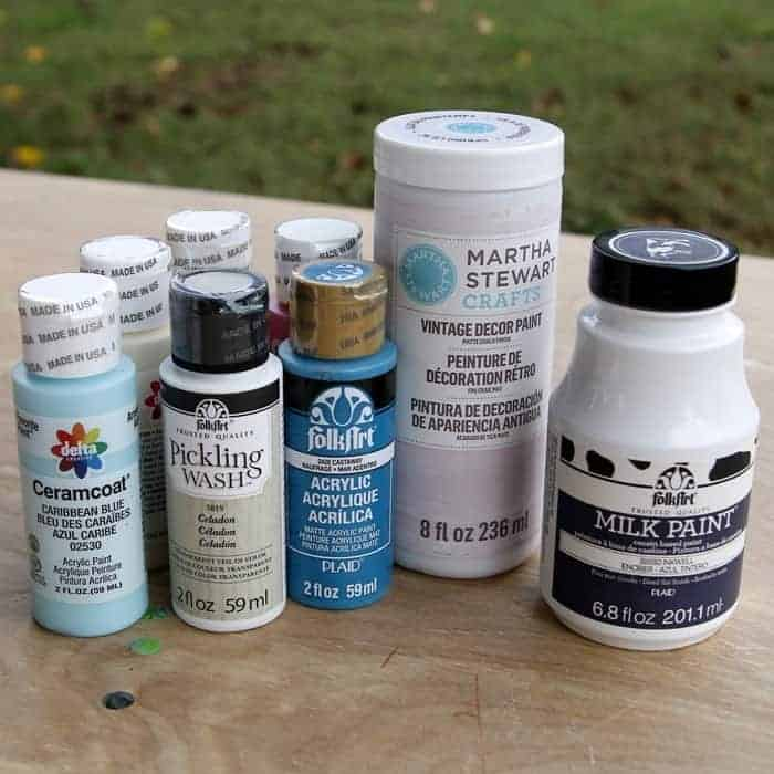Giveaway Paints, Brushes, Stencils, And Junk Treasures