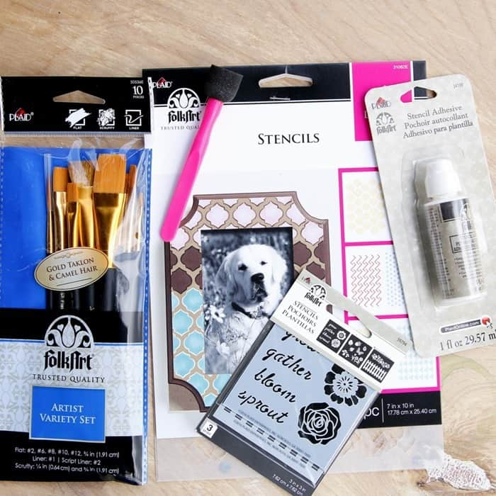 Giveaway Paints, Brushes, Stencils,