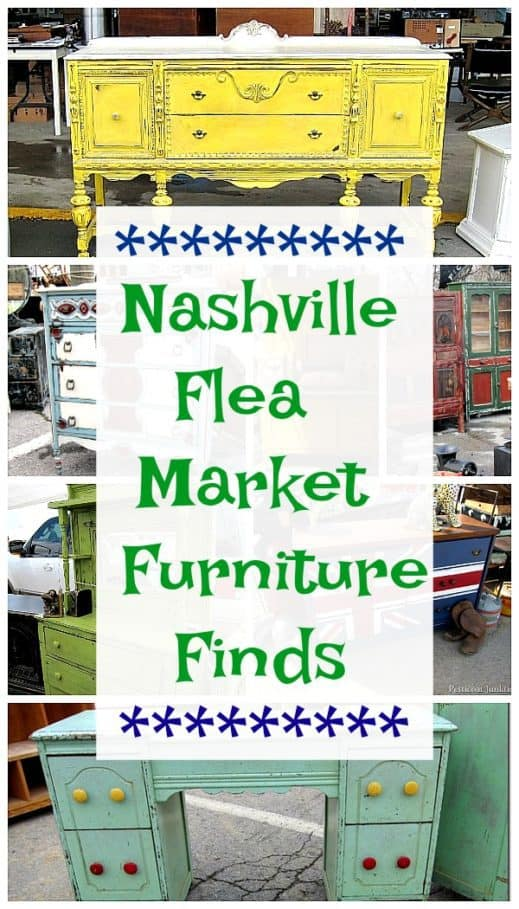 Nashville Flea Market Shopping Trip and Furniture Finds