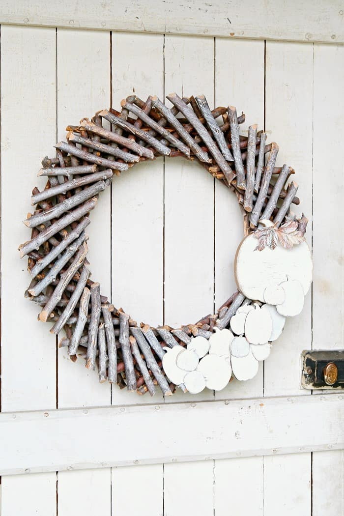 Start With A Basic Wood Wreath And Make It Your Own