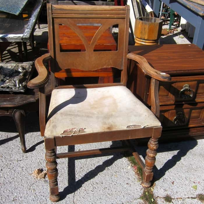 Two Sets Of Junk Shop Used Chairs To Paint