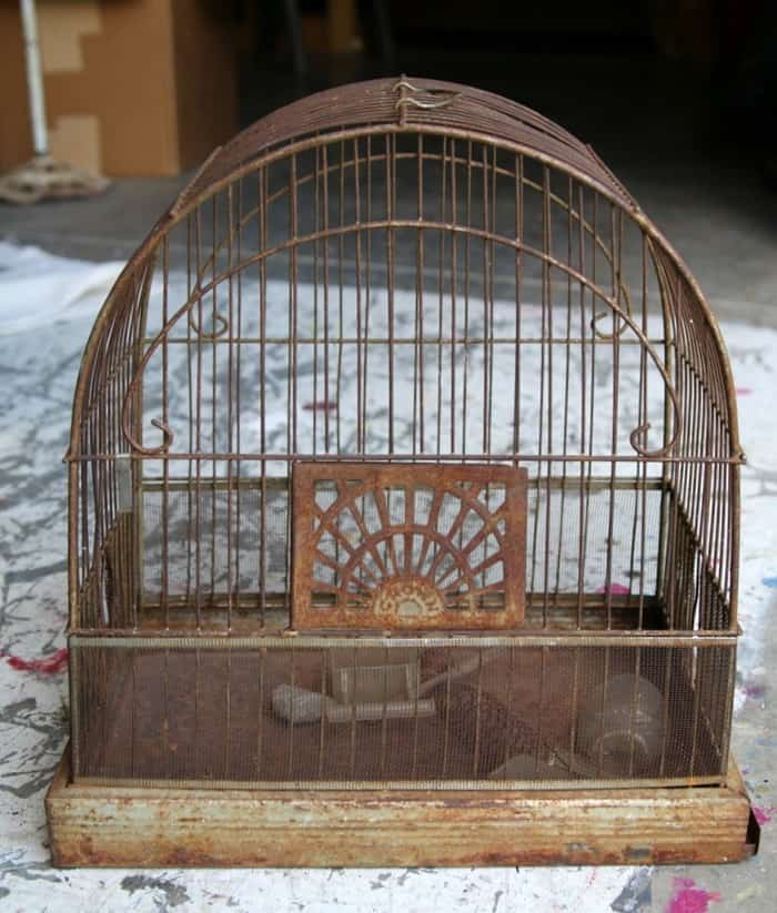 Vintage Crown Bird Cage