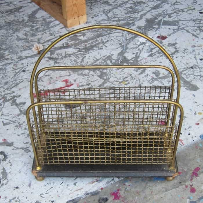 brass magazine rack yard sale buy