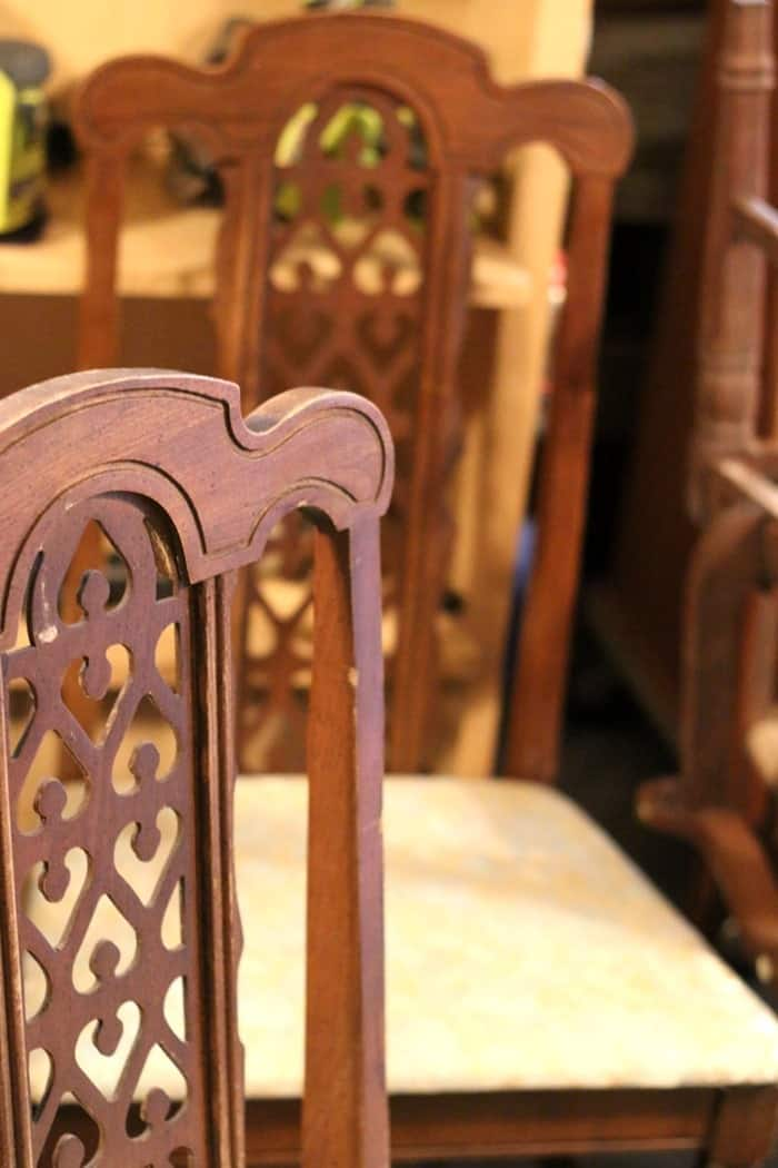 chairs with pretty details
