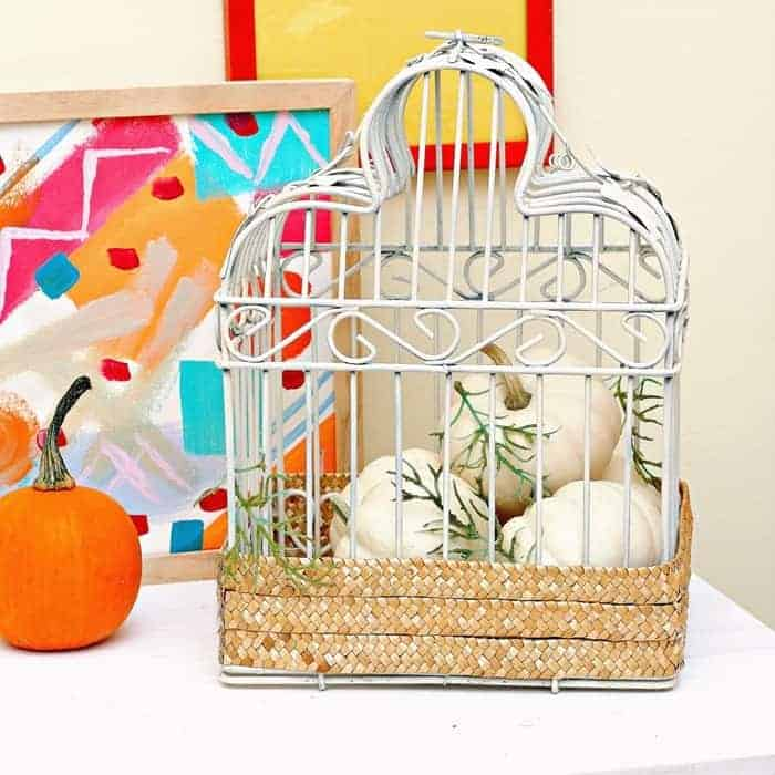 edit white bird cage makeover