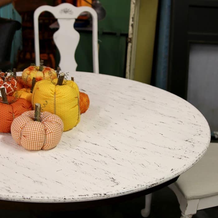 faux distressed table