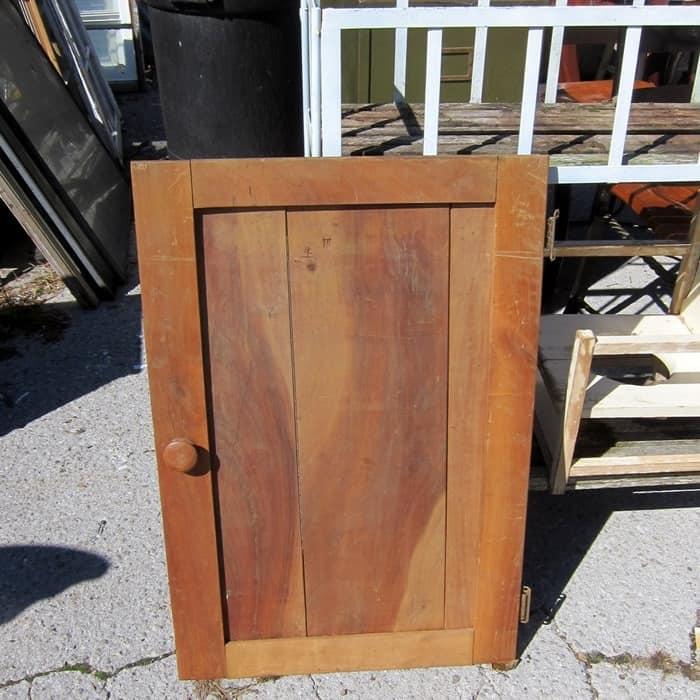 reclaimed cabinet door for sign