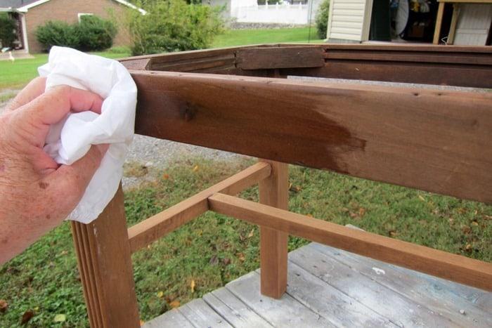 restore wood with Howard's Feed n Wax