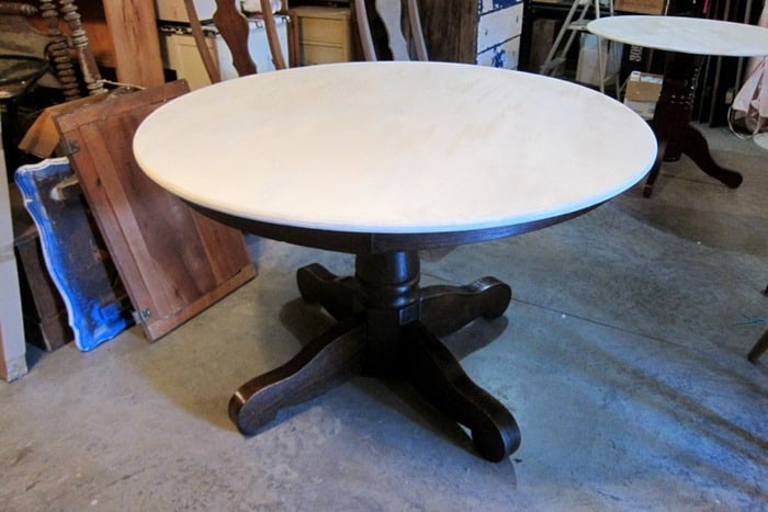 round oak table top painted
