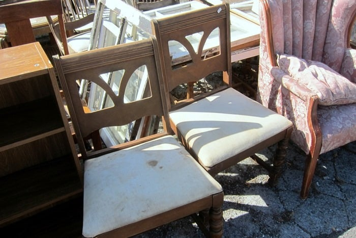 set of used chairs