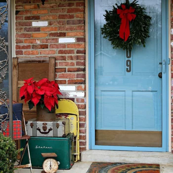 Christmas porch vintage decorating ideas