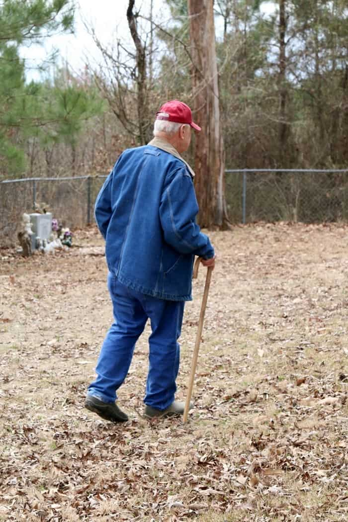 Dad at the Old Owen Cemetery in Griffith Springs Community Arkansas