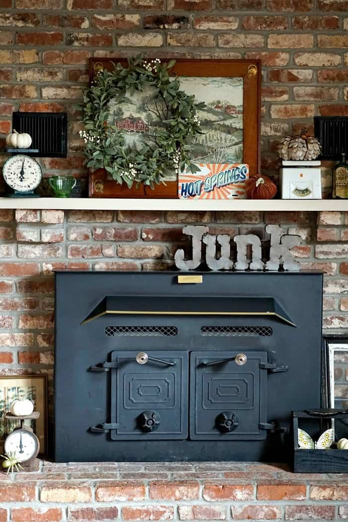 Eclectic Mantel Decor