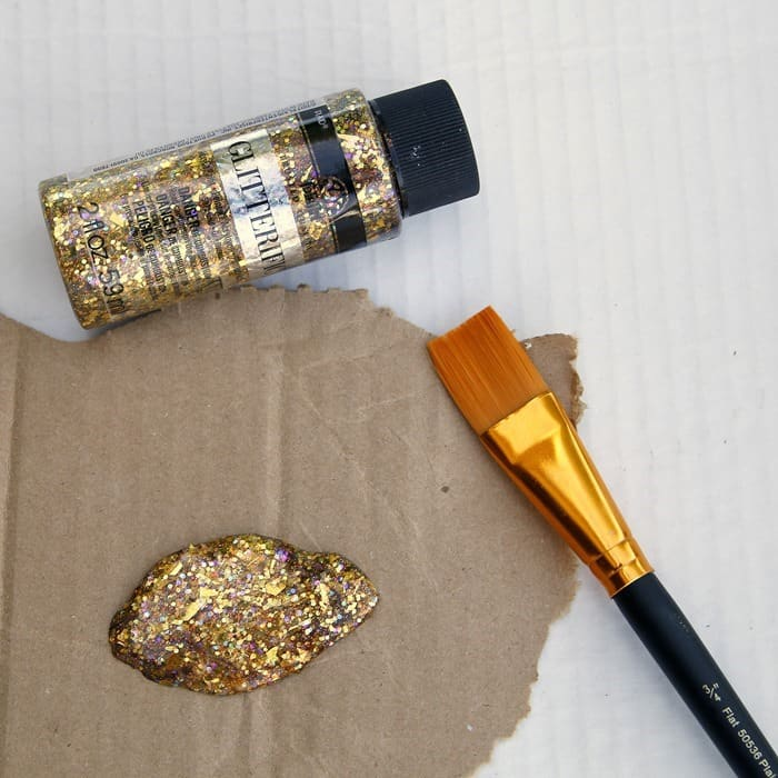 Glitterific paint is glittery and shimmery and is perfect for Christmas tree ornaments