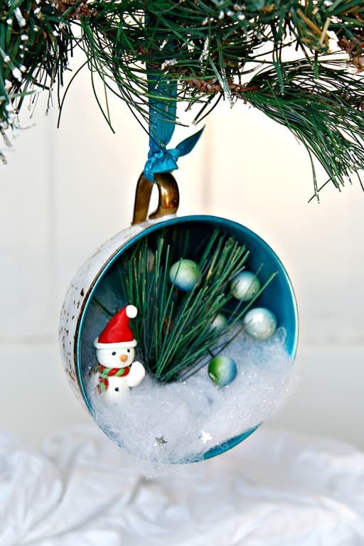 How To Make Teacup Christmas Tree Ornaments - Petticoat Junktion