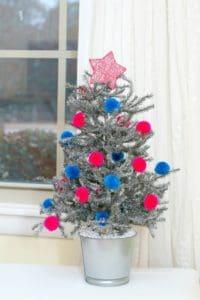 silver tinsel tree