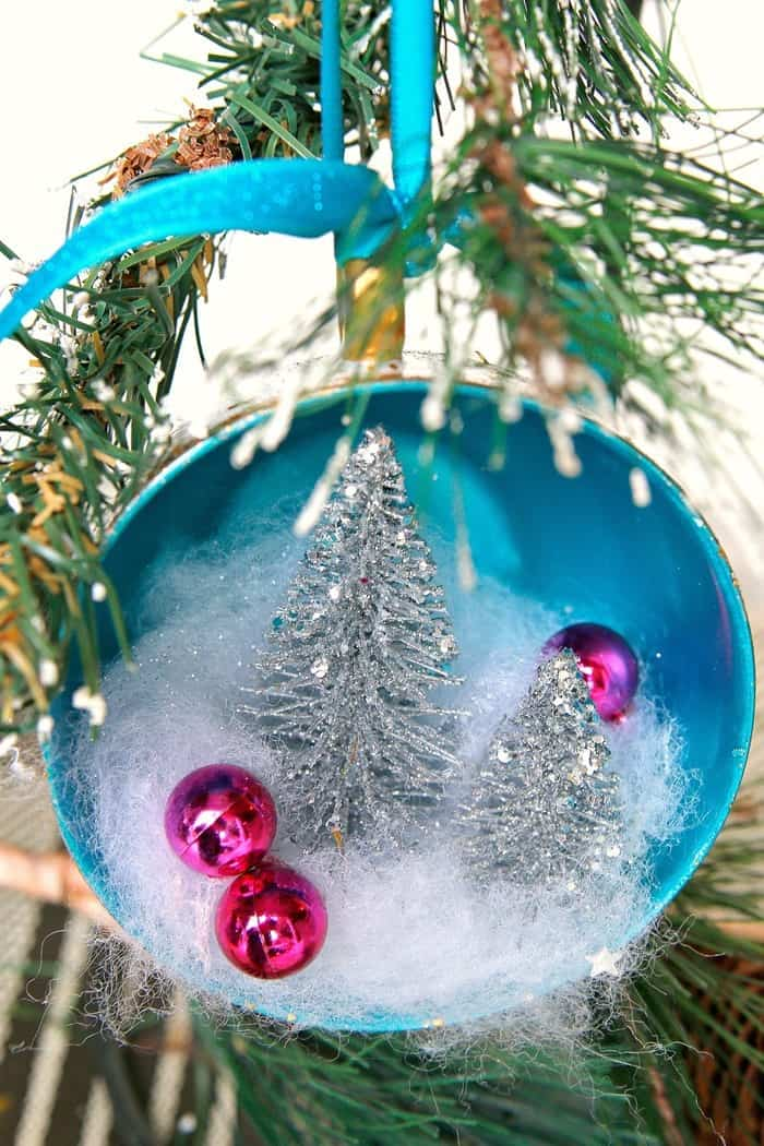Teacup Christmas Tree Ornament Idea