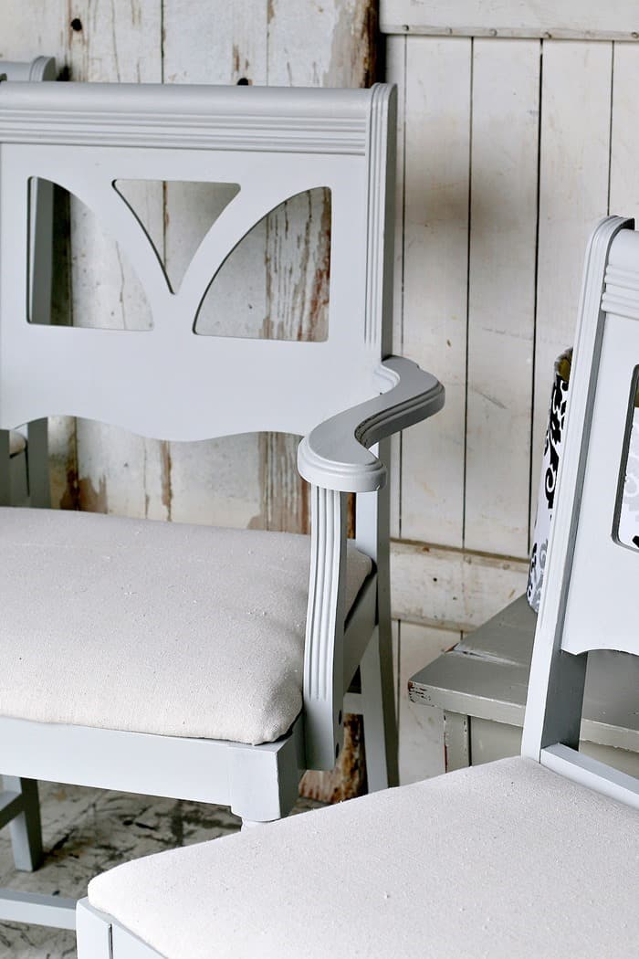 The Sweetest Soft Gray Paint Color For Dining Chairs Makeover