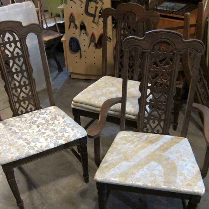 chairs for paint and seat makeover