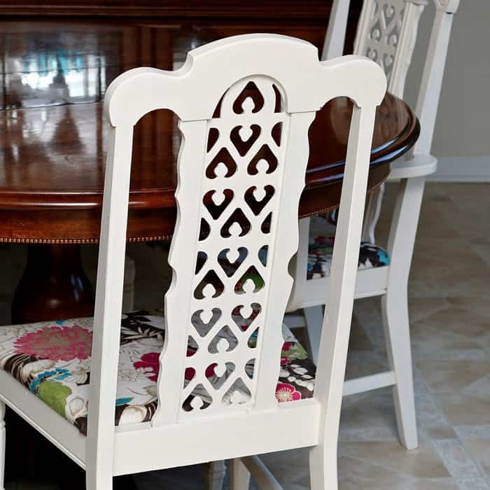 how to paint chairs and recover fabric seats