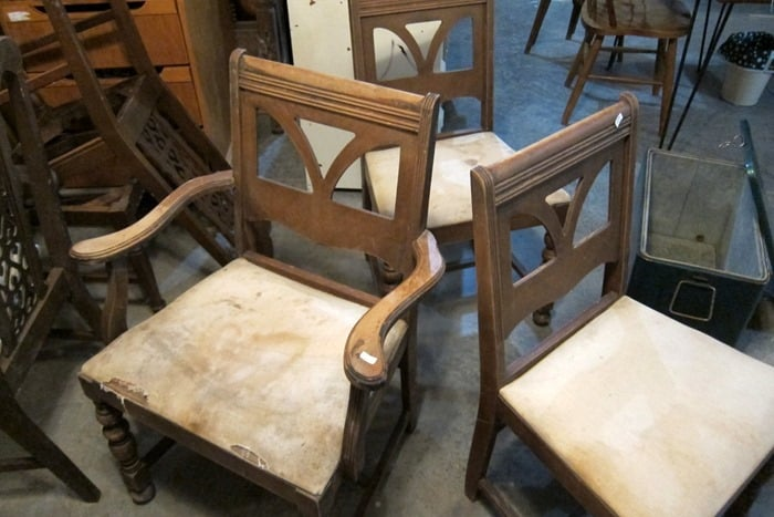 junk shop chairs ready for makeover