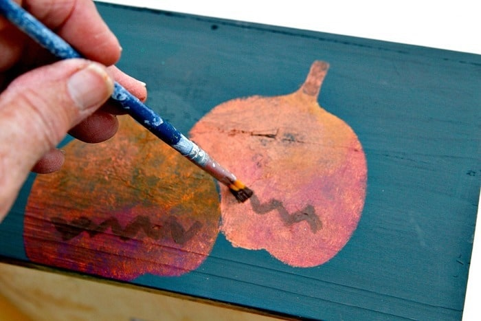 painting with acrylic paint