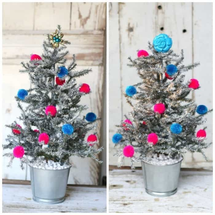 spray paint a small Chrismtas tree