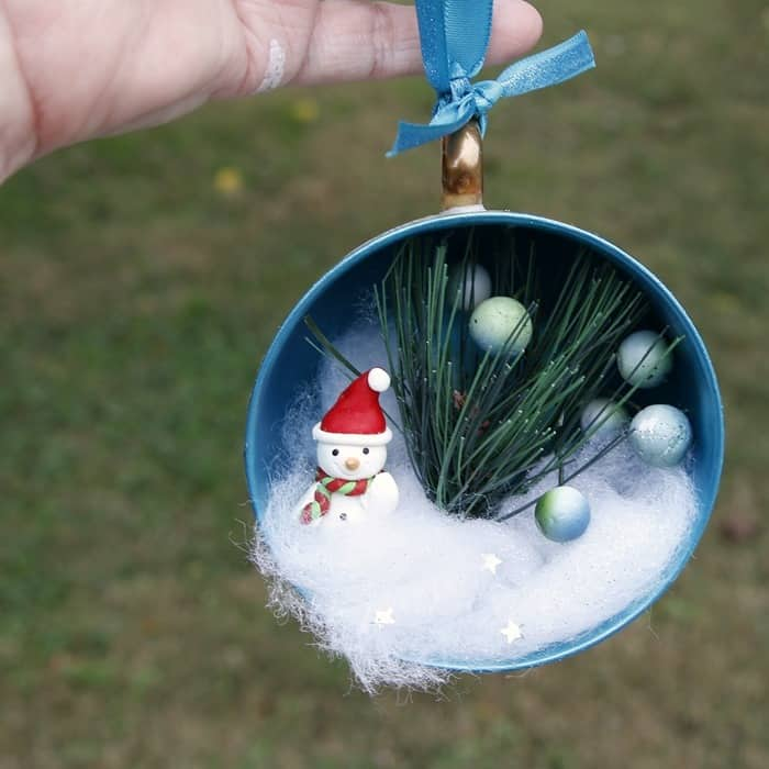 DIY teacup Christmas tree ornaments
