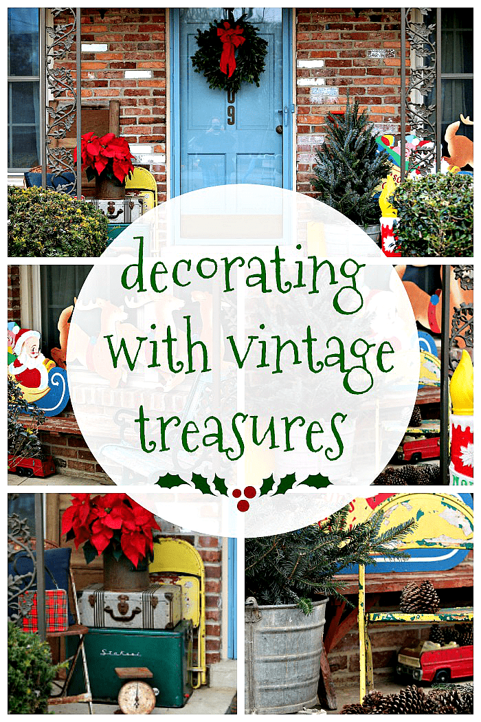 Christmas decorating with vintage treasures by Petticoat Junktion
