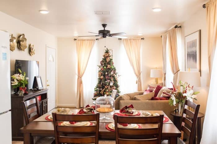 Habitat for Humanity home Nashville furniture and decorated by Warrick Dunn Charities