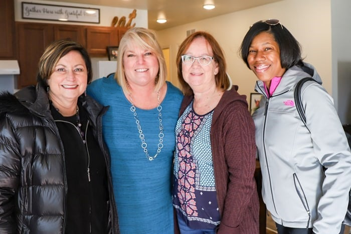 Homes for the Holidays Volunteers Karol, Lisa, Kathy Owen Petticoat Junktion, Shadonte