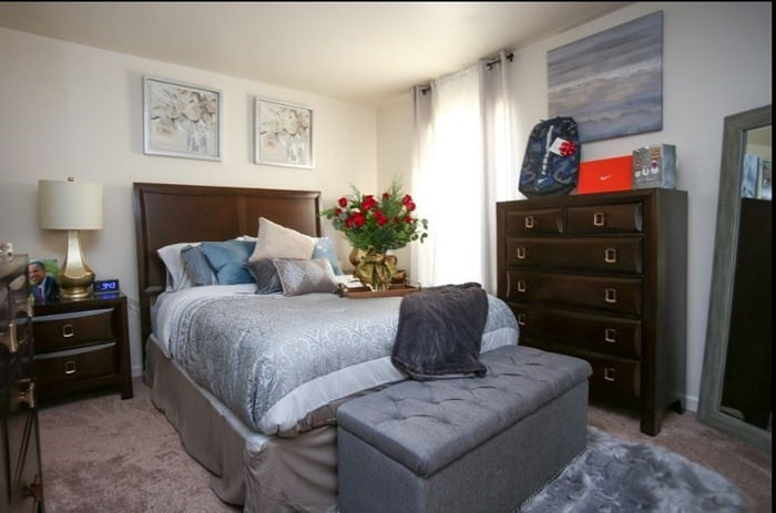 Keisha's master bedroom Habitat for Humanity Homes for the Holidays Nashville Tennessee