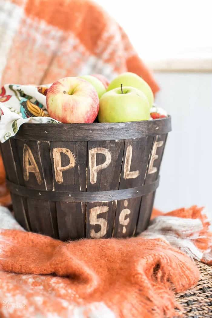 Stainde apple basket from Domestically Speaking