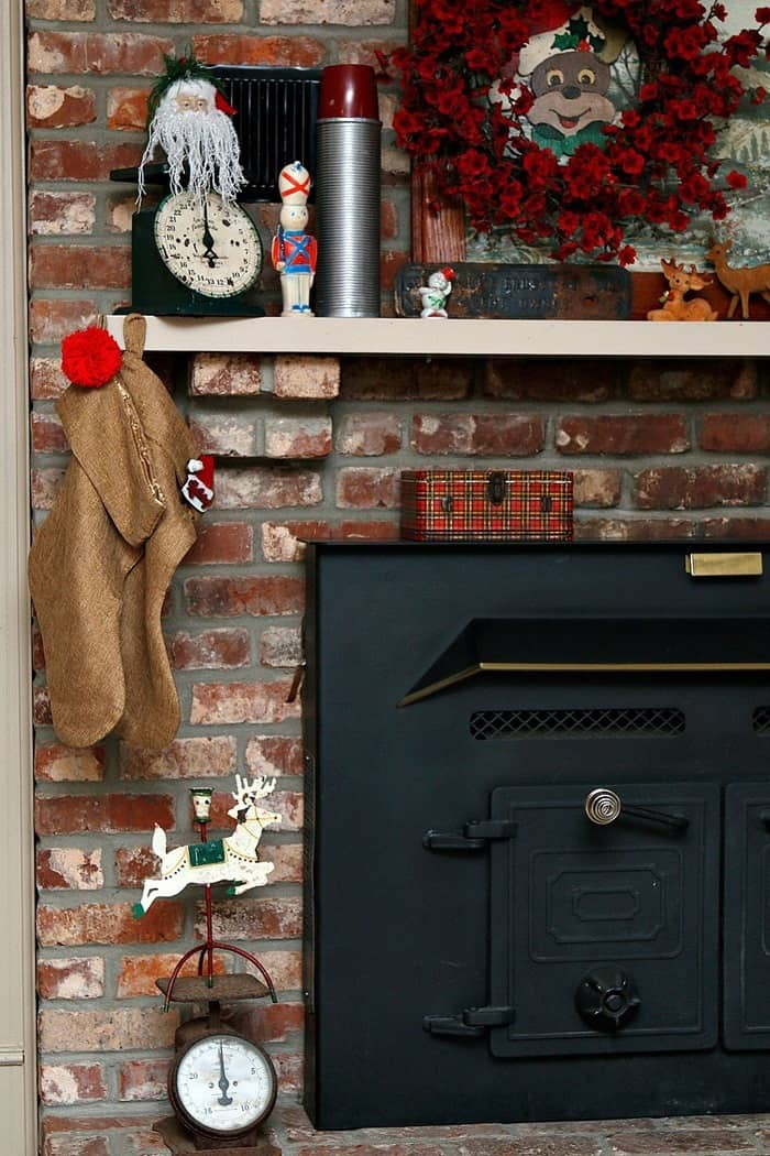 decorating the mantel and the fireplace hearth