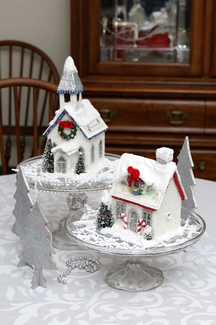 decorative Christmas houses display