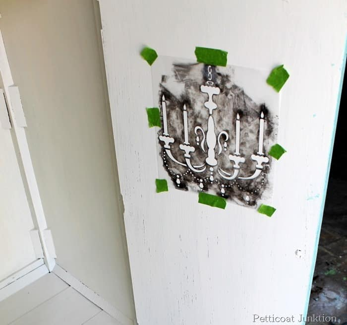 fancy stencil chandelier for furniture project