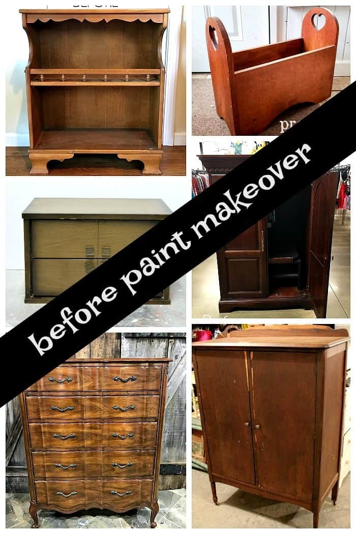 furniture before paint makeover from the furniture fixer uppers