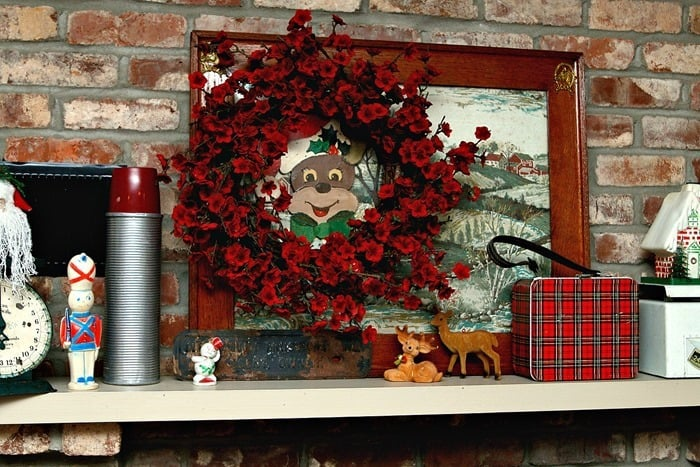 mantel decorating ideas with vintage decor