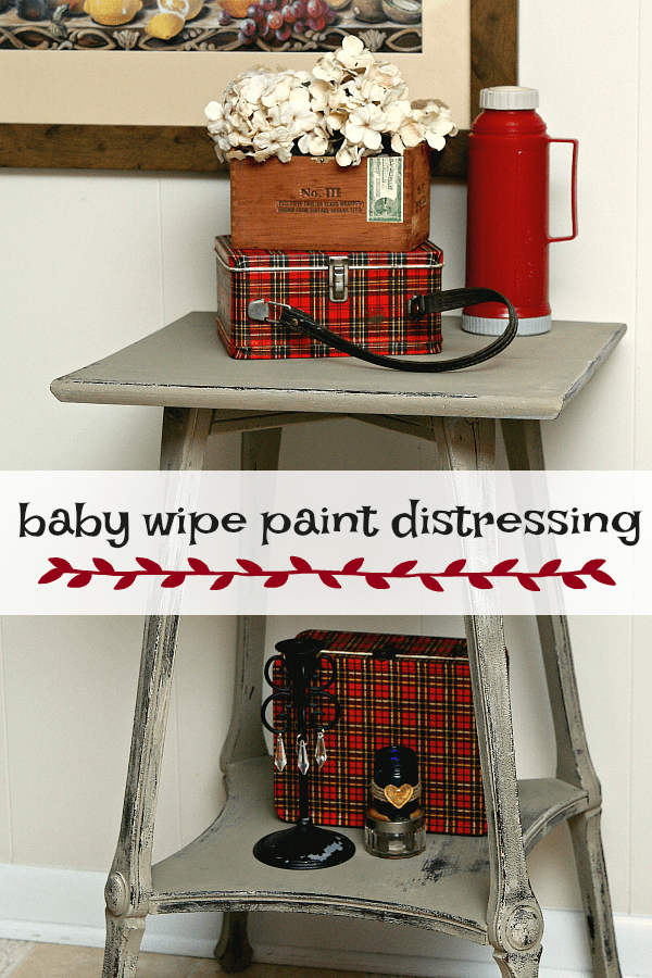 Learn how to distress paint with baby wipes