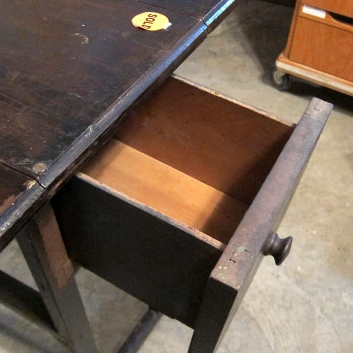 Drop Leaf Table with two drawers