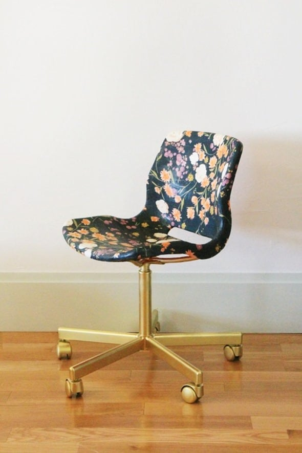 Little Green Notebook Decoupage Chair