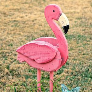 primping up a flamingo planter with new paint