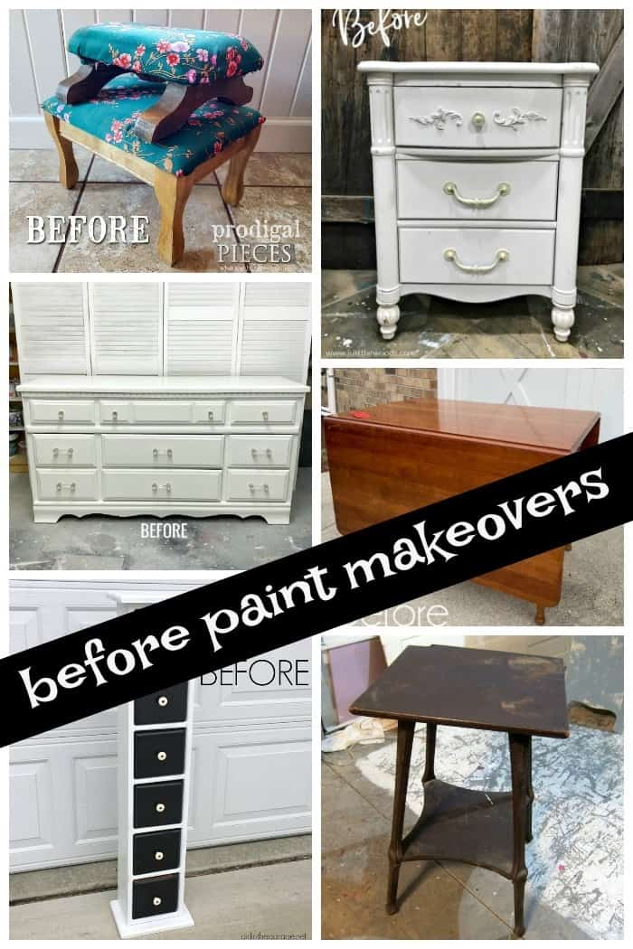 furniture projects before paint makeovers