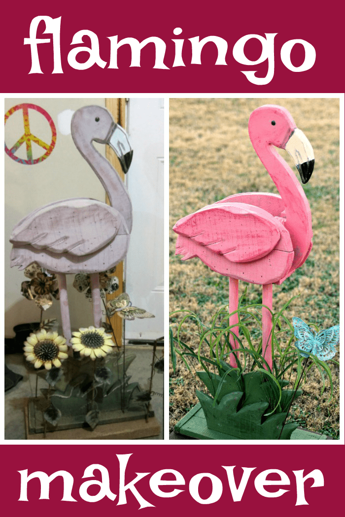 how to paint a wood flamingo