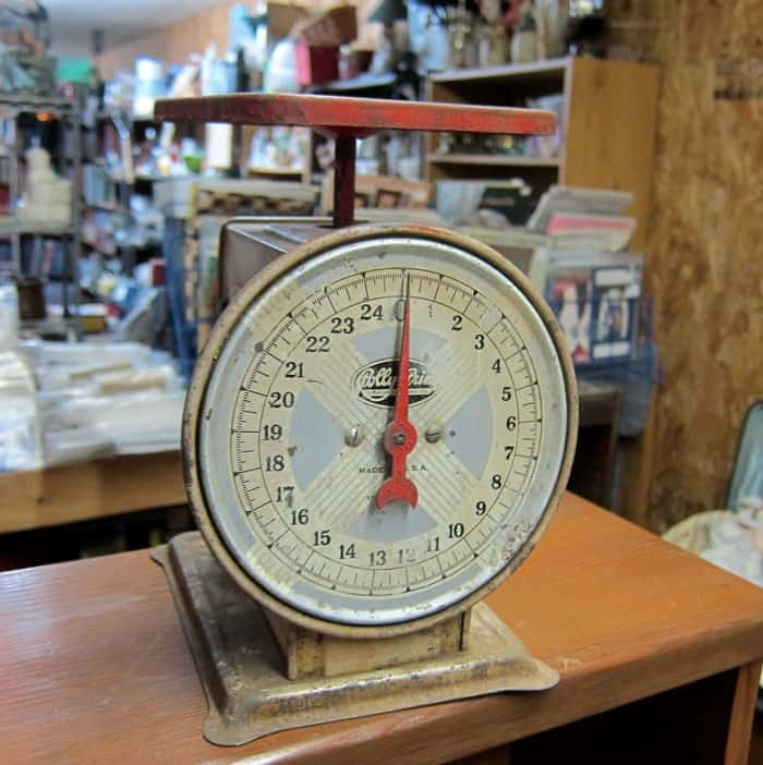 vintage kitchen scales at Southern Kentucky Flea Market