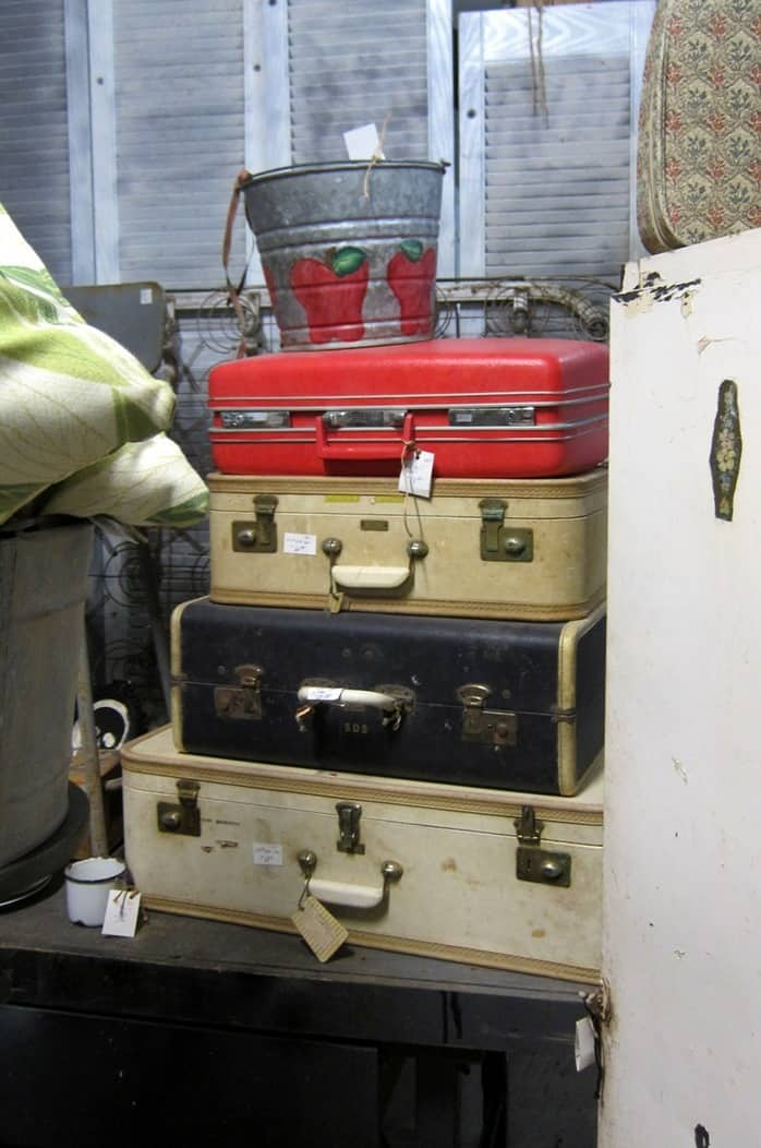 vintage luggage at Southern Kentucky Flea Market