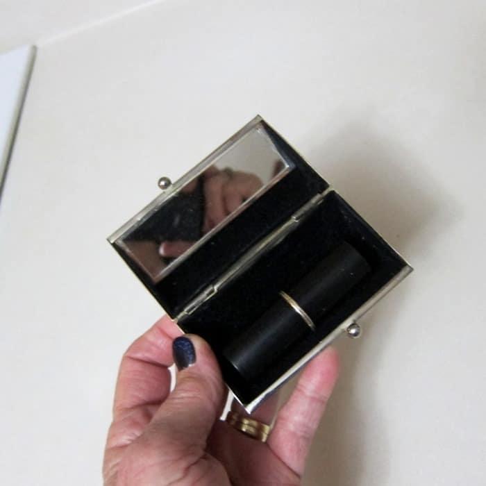 vintage silver plate lipstick holder