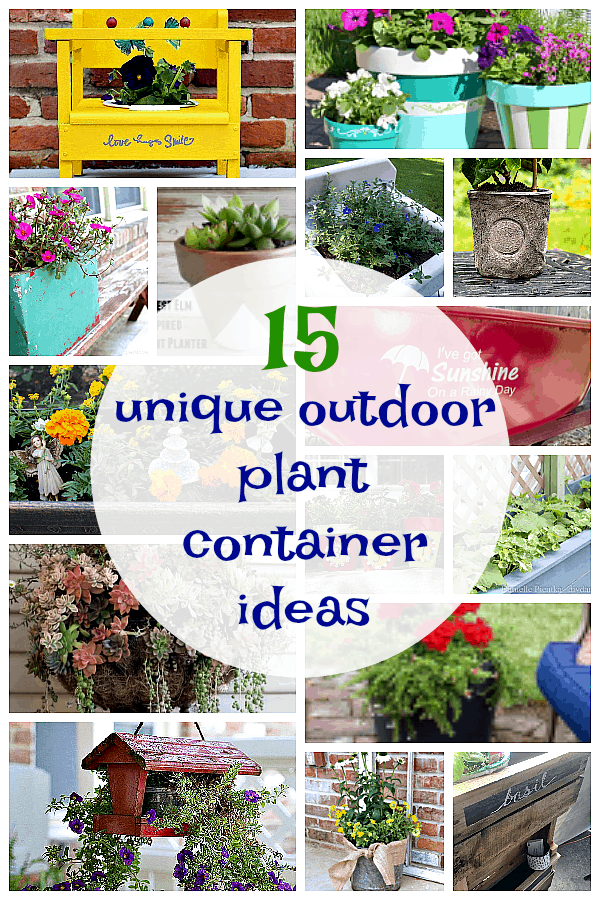 15 Unique Outdoor Plant Container Ideas for the porch or lawn