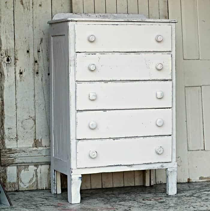 Coastal Cottage Inspired White Furniture Makeover Trash To Treasure