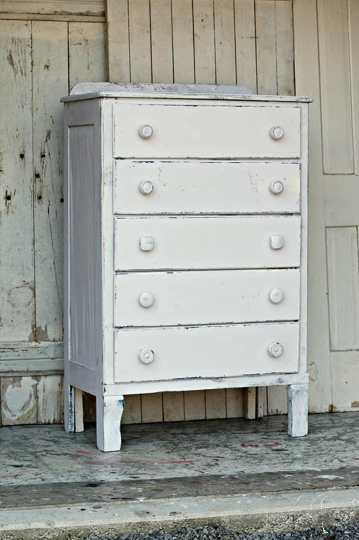 Coastal Cottage Inspired White Furniture Makeover